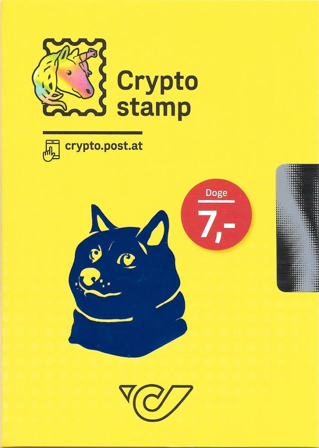 Austria 2020 dog crypto stamp