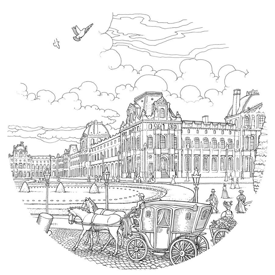 Adult Coloring book Paris - Kleurboek Parijs - Philatelicly