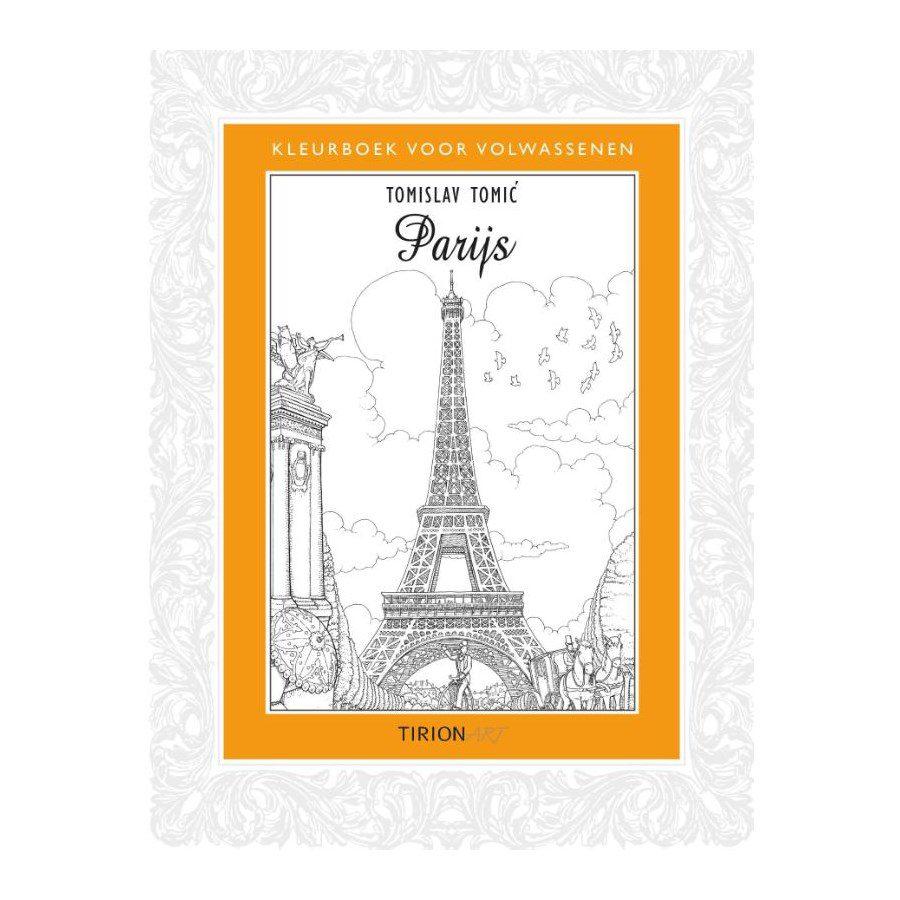 Paris coloring book for adults - Adult Coloring Book Paris 9789043917315 Front Cover