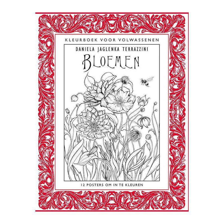 The coloring book poster - Bloemen Coloring Book Poster Format