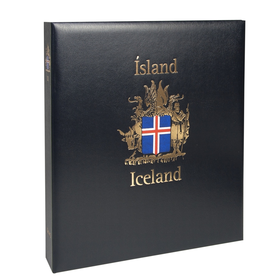 DAVO Stamp Album Binders Iceland / DAVO Printed Albums Iceland