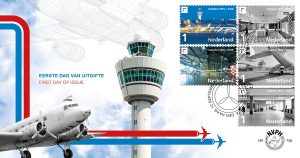 First Day Cover 738 celebrating: 100 jaar Schiphol (Photo Credits: NVPH)