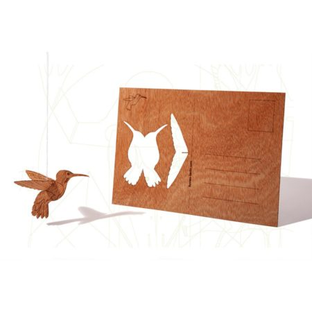 Formes Berlin Wooden Postcard Hummingbird