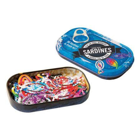 Page Markers Super Jazzy Sardines in a Tin