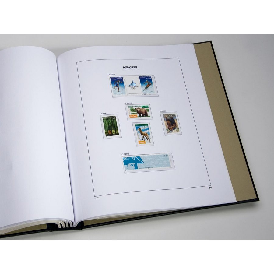 Printed Album: DAVO Printed Albums Andorra France (1931-2016)