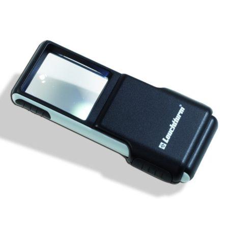 Leuchtturm pocket magnifier slide 3x with LED
