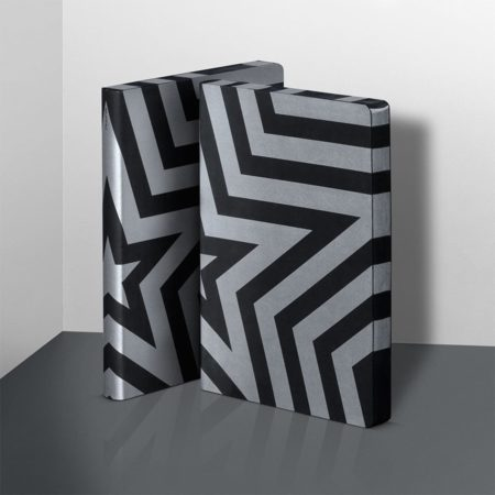 nuuna Graphic Super Star Notebook L Silver Metallic 52125