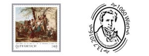 Austria Old masters - Ferdinand Georg Waldmüller FDC Cancel