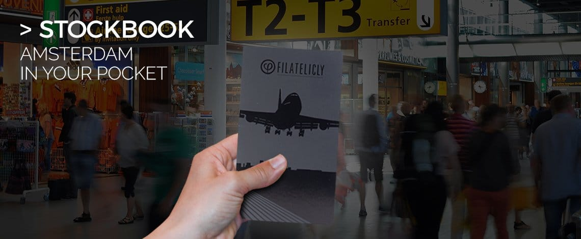 Pocket Stockbook Stamp Album Amsterdam Airport in your Pocket