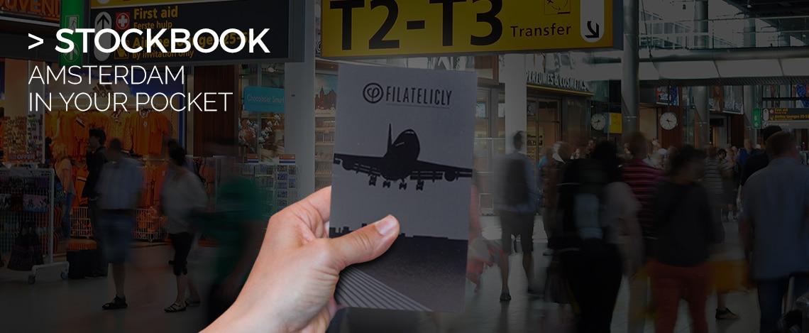 Pocket Stockbook Stamp Album Amsterdam Airport in your Pocket