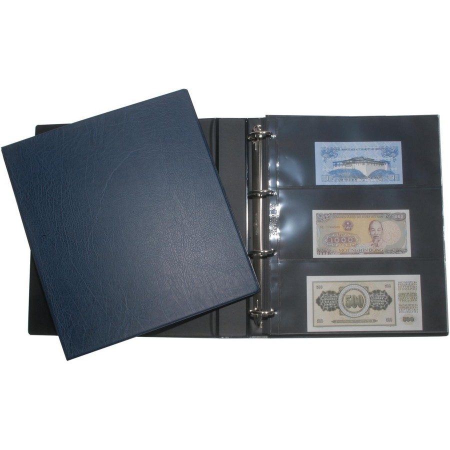 HARTBERGER banknote album start set with slipcase