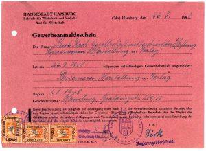 Leuchtturm Certificate of Establishment of the Company