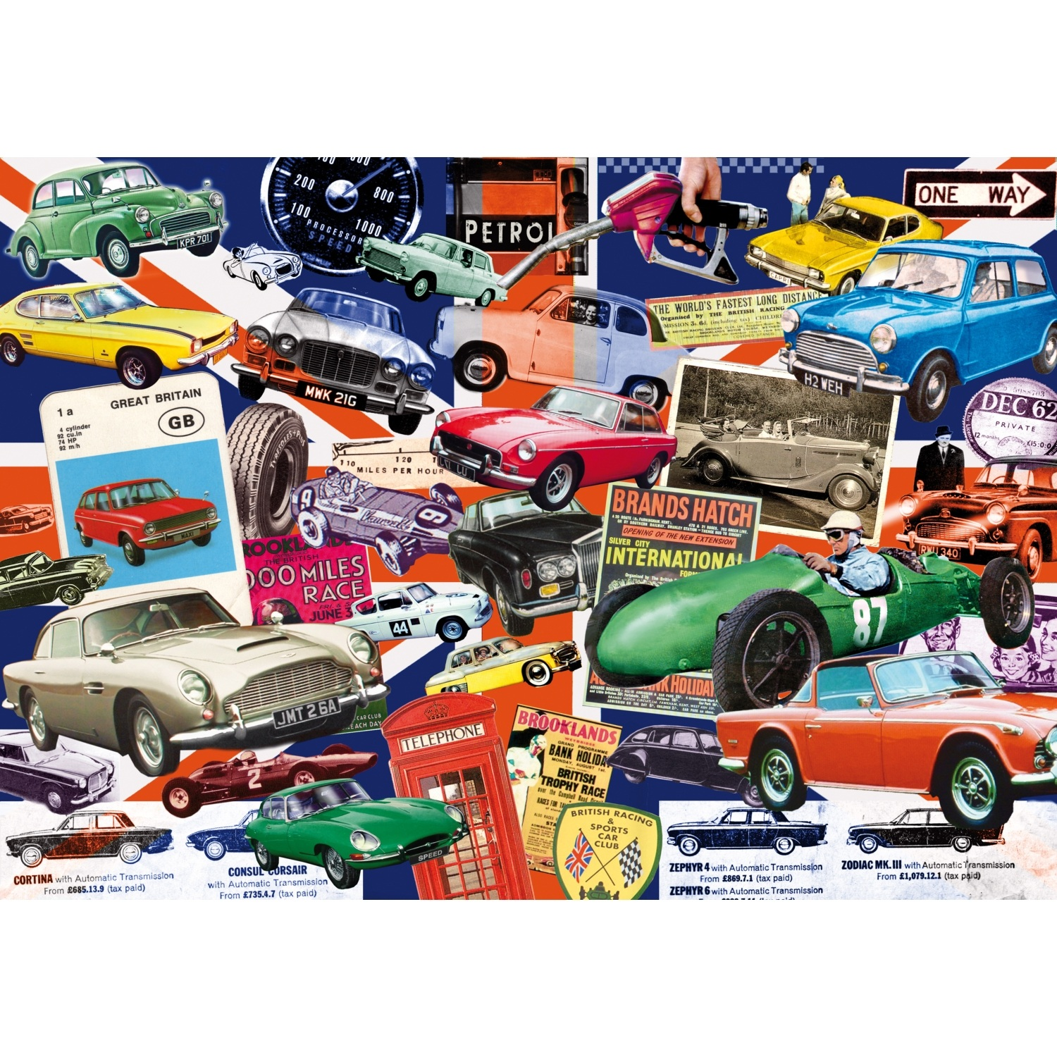 Best of British Cars Posters Jigsaw Puzzle 500pc 510 x 360mm Difficult