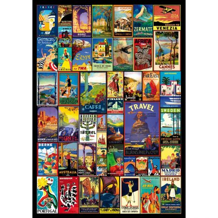 Wentworth World Travel Posters Jigsaw Puzzle 500pc 510 x 360mm Difficult
