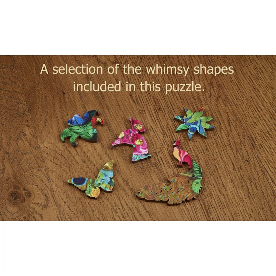 Wentworth Spectacular Peacock Jigsaw Puzzle 240pc with whimsies 354 x 248mm