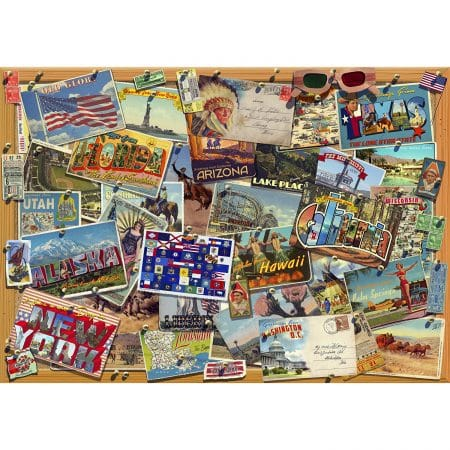 Wentworth USA Postcards Jigsaw Puzzle 500pc 510 x 360mm Difficult