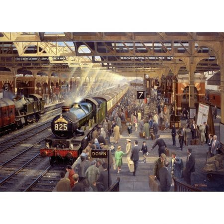 Wentworth Holiday Time Snow Hill Jigsaw Puzzle 500pc 510 x 360mm Difficult