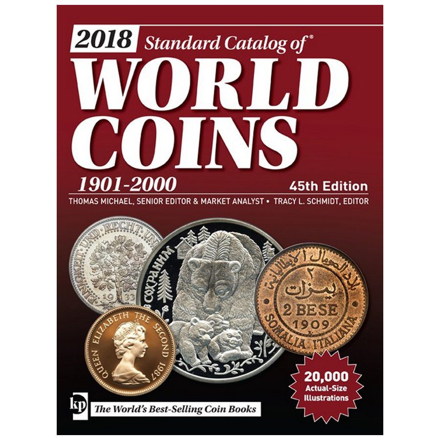 2018 Krause Standard Catalog of World Coins, 1901-2000, 45th Ed