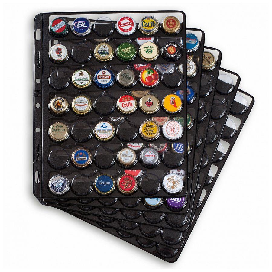 Leuchtturm COMPART42 Bottle Caps Black Sheets Pack of 5