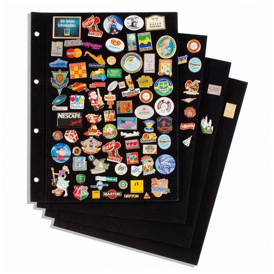 Leuchtturm Pins Album Velvet Sheets Pack Of 4