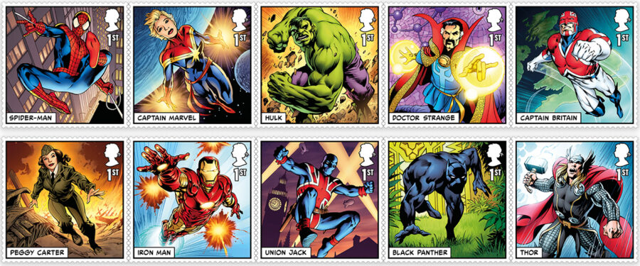 Marvel Comics Stamps - Royal Mail