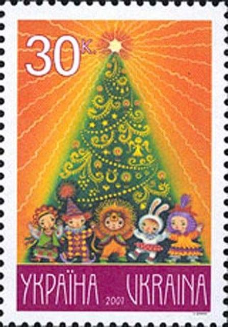 Christmas stamps Ukraine