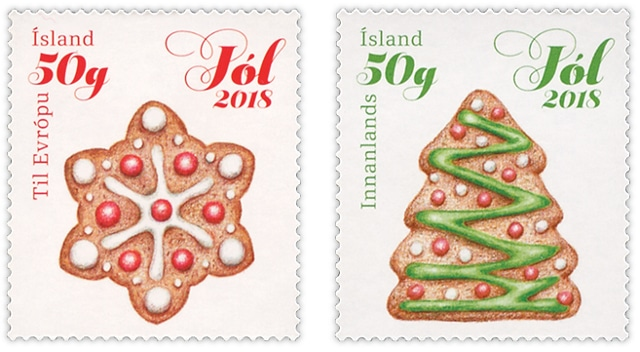 Christmas stamps Iceland