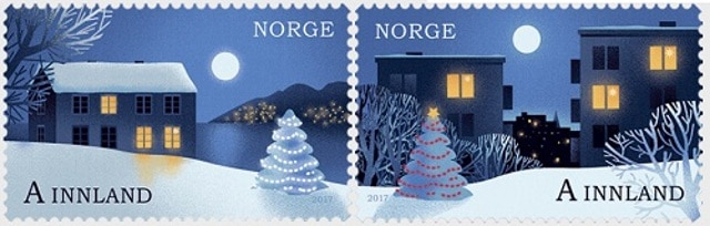 Christmas stamps Norway