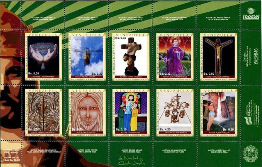 Christmas stamps Venezuela