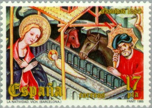 Christmas stamps Spain