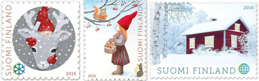 Christmas stamps FInland
