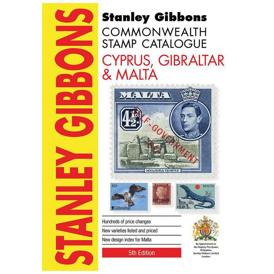 Stanley Gibbons Cyprus, Gibraltar & Malta Stamp Catalogue 5th Edition