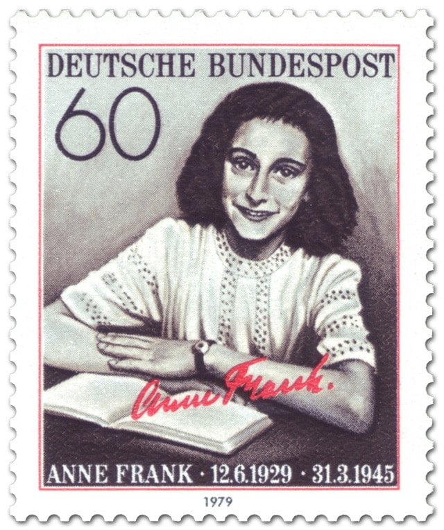 Anne Frank stamps - Germany