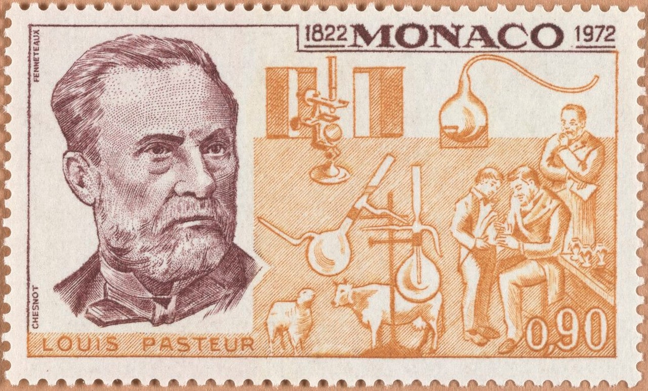 """Louis Pasteur and Robert Koch are two of the most important scientists in history when we're talking about diseases and how to prevent and/or cure them. Today, we'll take a look at postal stamps related to these two brilliant minds and also remind ourselves of some of their most important achievements.  Louis Pasteur Louis Pasteur (Dole, Jura, France, December 27, 1822 – Marnes-la-Coquette, France, September 28, 1895) was a French scientist well-known for his works as a biologist, microbiologist, and chemist. His most important work is related to the discoveries of the principles of vaccination, germ theory, and pasteurization.   Louis Pasteur France – 1924  Although the germ theory was well-known before him (since the Middle Ages), his experimental work proved that certain types of micro-organisms that infect humans and animals are related to certain diseases. """"Science knows no country, because knowledge belongs to humanity, and is the torch which illuminates the world. Science is the highest personification of the nation because that nation will remain the first which carries the furthest the works of thought and intelligence."""" - Louis Pasteur    Louis Pasteur Series """"Scientists"""" (included Charles Robert Darwin, Dimitrij Iwanowitsch Mendelejev, Albert Einstein, Louis Pasteur, Isaac Newton, Mikolaj Kopernik) Poland - 1952/10/12  His second well-known work, dating back to 1865, is the one holding his name even these days. The pasteurization process is used to sanitize protect (sanitize) sensitive food, e.g. milk, beer, and wine, from germs. In the process, food is first heated to temperatures high enough to kill any sort of bacteria. After that the food is cooled down, and ready to be used safely. """"There does not exist a category of science to which one can give the name applied science. There are science and the applications of science, bound together as the fruit of the tree which bears it."""" - Louis Pasteur    Sesquicentenaire of the birth of Louis Pasteur Comoros"""