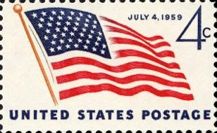 U.S. flag stamp 1959