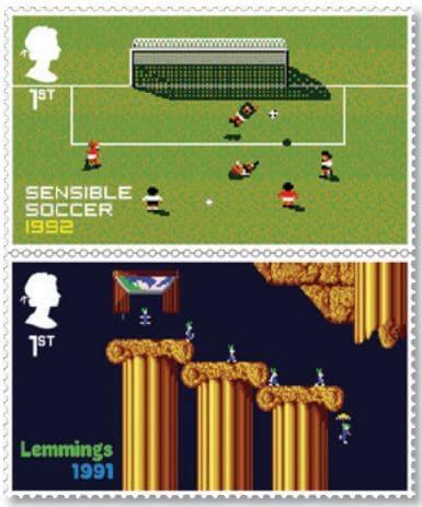 Royal Mail - Classic British Video Games - Sensible Soccer Lemmings