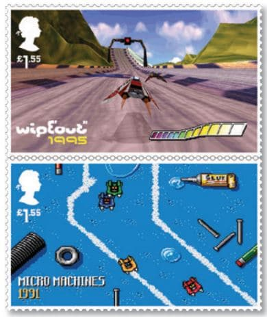 Royal Mail - Classic British Video Games - Wipeout Micro Machines