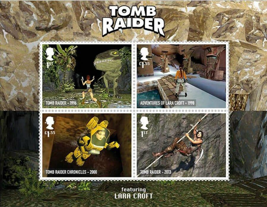 Royal Mail - Classic British Video Games - Tomb Rider Lara Croft