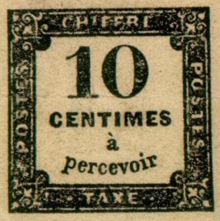 Timbre taxe - France 1859