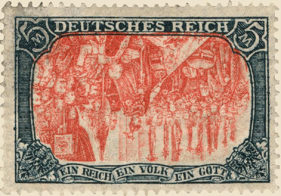 Keiser Wilhelm II stamp – invert error