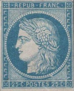 Ceres stamp - France 1850