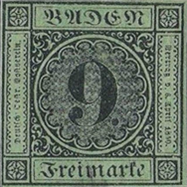 9 Kreuzer error stamp