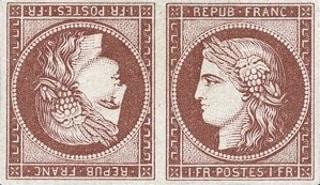 Ceres stamp - France 1849
