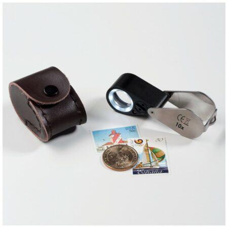 Leuchtturm 10x magnifier LED+UV lamp, jewelers quality