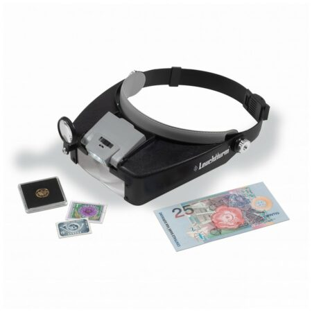 Leuchtturm Fokus LED Headband Magnifier - 1.5x-8x Magnification