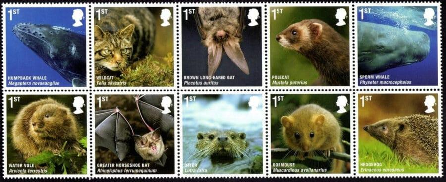 UK stamps nature series