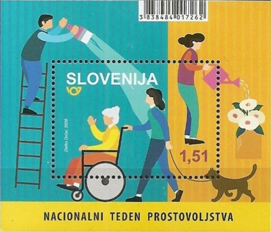 Slovenia 2020 dog stamp