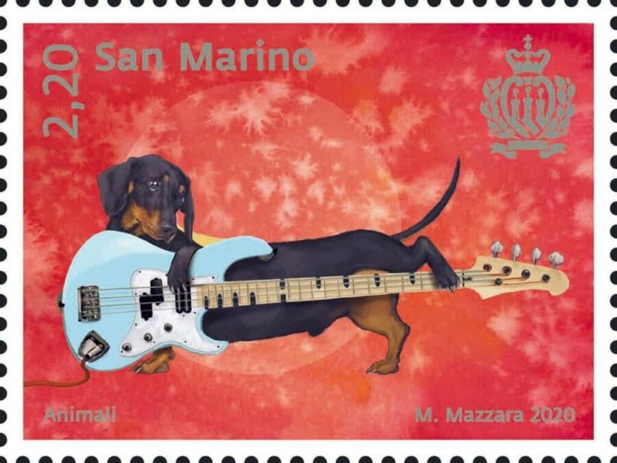 San Marino 2020 dog stamp