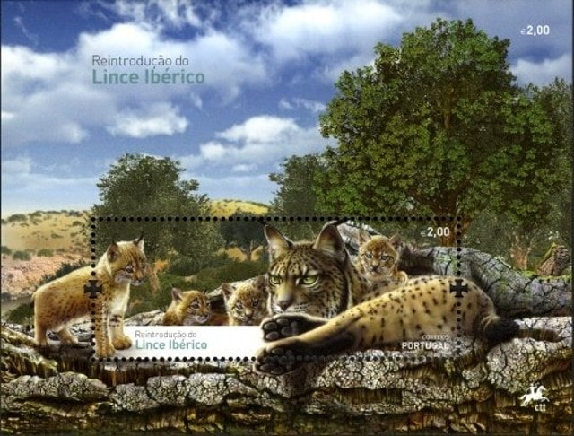 Portugal lynx stamp