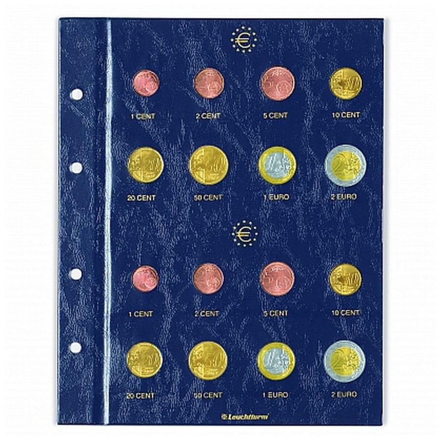 Leuchtturm VISTA Euro coins sheets